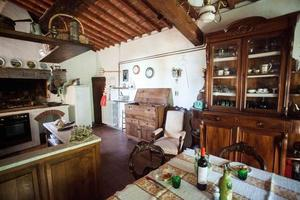 typiskt toskansk kök foto