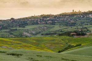 tuscany landskap runt pienza, val d'orcia, italien