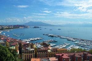 Naples Bay. syn på vesuvio