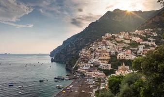 utsikt över vackra positano
