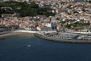 portugal azores öarna terceira panoramautsikt över angra do heroismo