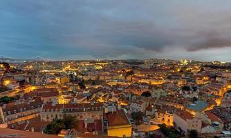 Lissabon i Portugal vid gryningen