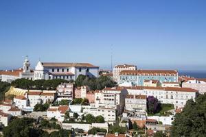 panorama över den historiska staden Lissabon, Portugal