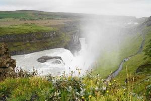 gullfoss, vattenfall på Island