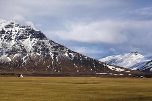vulkaniskt landskap på snaefellsneshalvön på Island