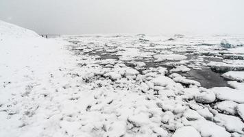 jokulsarlon, en stor issjö på Island foto