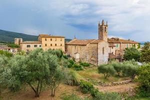 medeltida stad i Toscana, Italien