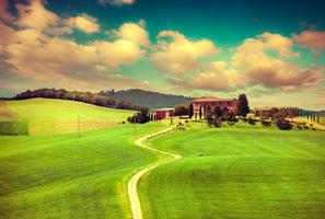morgon på landsbygden i Toscana
