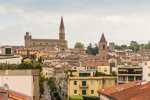 medeltida stad arezzo, Toscana, Italien