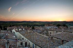 byn Pienza i Toscana
