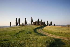 det toskanska landet. bondgård i Toscana.