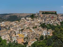ragusa ibla stadsbild. sicilien, italien.