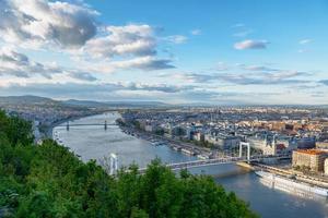 panoramautsikt över Budapest