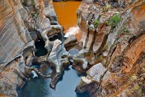 bourkes luckhål, i mpumalanga, sydafrika foto
