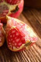 detalj av granatäpplefrukt foto