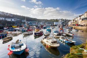 mevagissey hamn Cornwall England