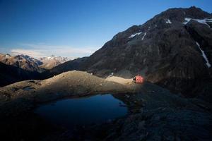 fantastiskt alpint landskap foto