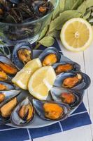 ångade musslor