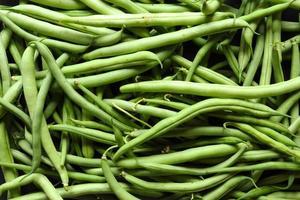 närbild av gröna bönor