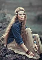 vacker hippie tjej foto