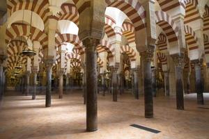 kolonner av La Mezquita-katedralen (Cordoba-moskén) foto