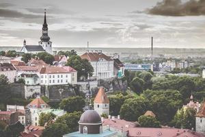 Tallinn, Estland vid den gamla staden.