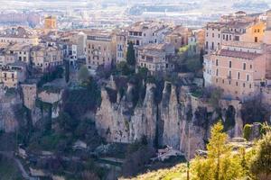 allmän sikt över den historiska staden Cuenca, Spanien