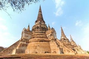 wat phra si sanphet i Ayutthaya, Thailand foto