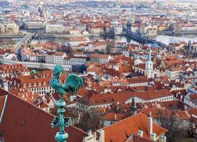 utsikten över Prag från katedralen Saint Vitus