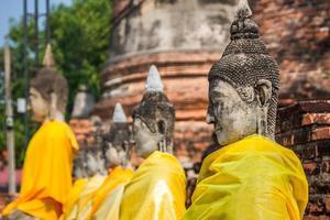 Buddha statyer Ayutthaya Thailand