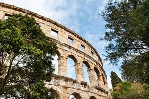 romerska colosseum i Pula, Kroatien.