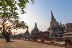 wat phra sri sanphet, världsarv, ayutthaya, thailand foto