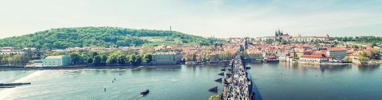 panorama över Prag