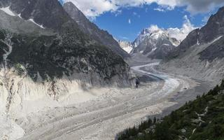 mer de glace från montenvers foto