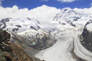 gornerglaciären (gornergletscher) i Schweiz foto