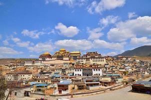 Songzanlin tibetanska kloster foto