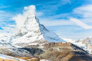 matterhorn peak, zermatt, schweiz foto