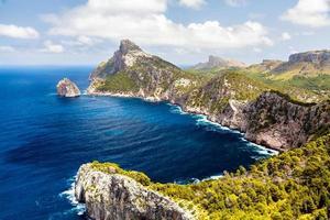 panoramautsikt över cape formentor. Mallorca foto
