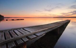 St Georges bassängbryggor vid solnedgången