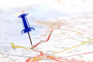 pushpin på kartan