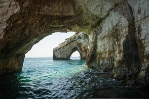 blå grottor, Zakinthos, Grekland foto