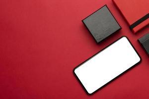 smartphone svart fredag mockup foto