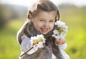 söt liten flicka