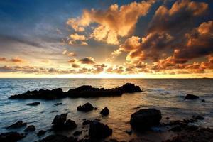 höst med havslandskap foto