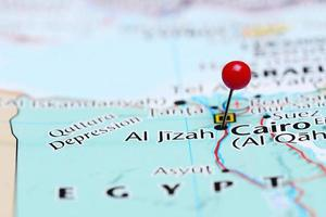 al jizah fästs på en karta över Asien