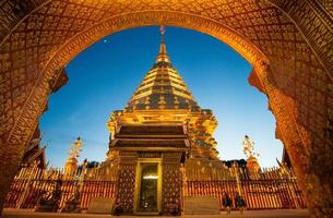doi suthep tempel i Chiangmai, Thailand