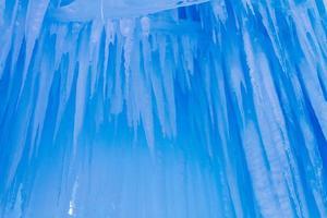isslott istappar och isformationer foto