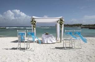 karibiska bröllopsdekoration foto