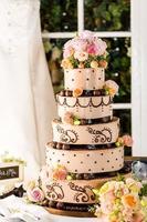 bröllopstårta foto
