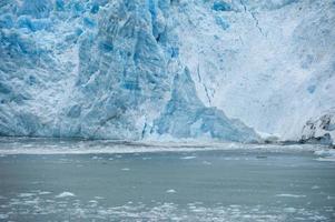 Hubbard-glaciären medan den smälter, Alaska foto